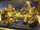 christmas Village Display Platform Ocean Scene For  Lemax, Dept 56 Villages