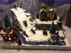 Christmas Village Display Platform Ski Slope W Scene For  Lemax Dept56 Village