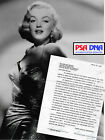 1959 MARILYN MONROE Signed SOME LIKE IT HOT Movie Contract Autograph PSA DNA LOA