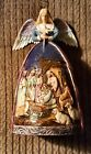 Beautiful Jim Shore Nativity Angel Heartwood Creek Carved Wood Pre Owned EUC