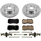 KOE6755 Powerstop Brake Disc and Pad Kits 2 Wheel Set Front New for Mercedes