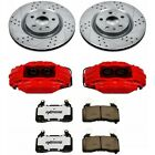 KC940 26 Powerstop 2 Wheel Set Brake Disc and Caliper Kits Rear for Audi 01 05