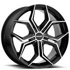 4 22 MKW Wheels M121 Gloss Black Machined Face Rims B4