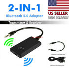 Bluetooth 50 Transmitter Receiver 2 IN 1 Wireless Audio 35mm Jack Aux Adapter
