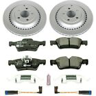 ESK4636 Powerstop 2 Wheel Set Brake Disc and Pad Kits Rear New for Mercedes