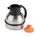 Bunn 62 Oz. 1.8l Stainless Deluxe Thermal Coffee Carafe - Black Or Orange Top