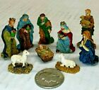 Hawthorne Village Holiday Christmas Figurine Nativity Scene set of 9 PIECES