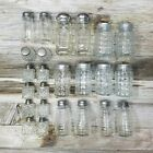 Vintage Glass Salt And Pepper Shakers Old Antique Lot Of 12 Sets