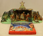 Christmas Manger Nativity Die Cut Litho Set By Concordia  743 Early 1940s