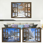 Wall Stickers Decor Snow Scene 3D Wall Sticker Home DIY Decals Floor Decoration