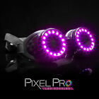 GloFX Pixel Pro LED Goggles with Pads Intense Multi colored 350 Modes Rave EDM