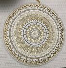 Authentic Turkish Glass Decorative Dinner Plates Gold  White 10  8 12 PCS