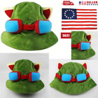 NEW Anime Hat Rave Beanie Cap Furry Plush Cosplay League of legends Teemo Green