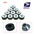 30x Motorcycle Rubber Grommets Bolt For Universal Fairing Cowling Pieces Durable