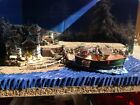christmas Village Display Platform W 2 Lemax Pieces , Ocean Scene