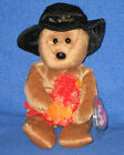 TY PLYMOUTH the THANKSGIVING BEAR BEANIE BABY - MINT with MINT TAGS