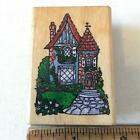 Country Cottage house Comotion Rubber Stamp 115