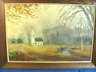 Vintage Oil Painting New Hampshire Fall Scene by Listed artist Richard Packer
