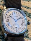 Vintage 1927 Waltham Military Style Trench WristWatch - Cushion Case - Running