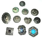 Vintage Button Covers Victorian Native American Sterling