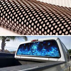 50 50 Perforated Vinyl Decal Blue Flame Skull Decoration Sticker For Pickup SUV