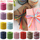 200M Roll Box Packing Wrapping String Baking Raffia Ribbon Paper Rope Cord Twine