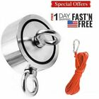 700-900lb Fishing Magnet Kit Strong Neodymium Pull Force Treasure Hunt Rope