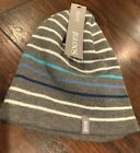 NEW IGLOOS Womens Gray and Blue Beanie Hat One Size Reversable ski snow winter