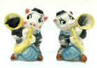 Vtg Salt Pepper Shakers Pigs Musicians Playing Instruments Anthropomorphic Japan