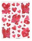 Vintage Amscan Sticker VALENTINE HEARTS 1 Sheet Scrapbooking SD7 B