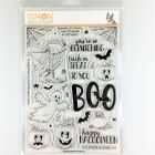 Simon Says Stamp Spook Up Some Fun Clear Stamp Set Halloween Ghost Pumpkin Web