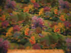Scenic Fabric By The Yard Thomas Kinkade Fall Autumn Foliage Trees Quilt Cotton