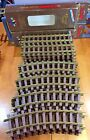 LIONEL LARGE G SCALE BRASS TRAIN TRACK HUGE LOT 12 STRAIGHT 16 CURVED 28PIECES