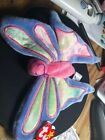 Ty Beanie Babies Flitter the Butterfly, 1996, PE Pellets With ERRORS Mint w/ Tag