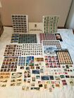 New US Postage Stamp large lot 145+ Face Value Mostly Mint Sheets Mixed denom