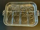 Vintage Indiana Glass Fruit Relish Tray Five Part Divided Server Clear Heavy