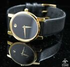 Movado Museum Quartz Classic Black Dial & Yellow Gold Women's Watch  87 A1 845
