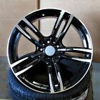 BMW M3 M4 Style 19x85 95 5x120 ET35 37 Black Machined Face Staggered Wheel SET