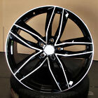 Audi S LINE RS6 STYLE 21x95 5x112 ET30 Black Machined Face WHEELS set of 4 RIM