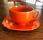 Vintage Homer Laughlin Riviera Red Cup And Saucer
