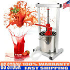 Fruit Crusher Cider Wine Juice Press Grinder with Hydraulic Jack Stainless Steel