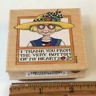 All Night Media Mary Engelbreit I THANK YOU GIRL Rubber Stamp