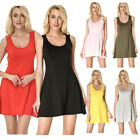 Women Summer Party Evening Beach Short Mini Dress Ladies A Line Skater Sundress