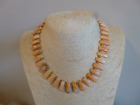 Exceptional Native American Necklace Natural Spiny Oyster And Gold Navajo Southw
