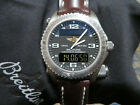 BREITLING EMERGENCY TITANIUM WATCH BLACK DIAL SERVICED BY BREITLING E76321