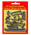 Stainless Philips Engine Covers Kit - Yamaha TY50P
