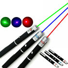 High Power 5mw Laser Pointer Pen Beam Light 3 Pack Red Blue Green