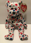 Ty Beanie Baby Red white & blue - (Bear 2002) Patriotic Stars- Mint Condition