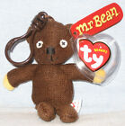 TY KEY CLIPS BEANIE BABY - MR. BEAN'S TEDDY BEAR - UK EXCLUSIVE - MINT TAGS