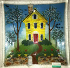 New Peggy Karr House Square Art Glass Plate 95